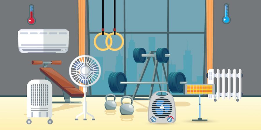 como climatizar tu gimnasio en casa